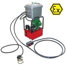 Насосные гидравлические станции с электроприводом, cо взрывозащищенным электродвигателем и ручным распределителем